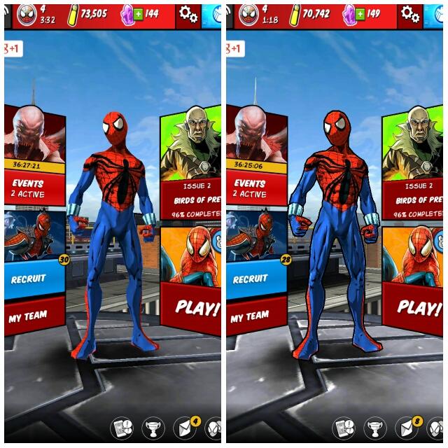 spider-man unlimited comparison performance vs graphic boost