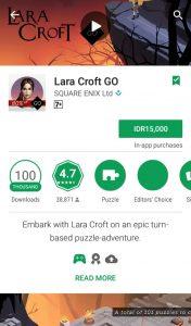 Lara Croft GO, diskon menjadi 15000 rupiah